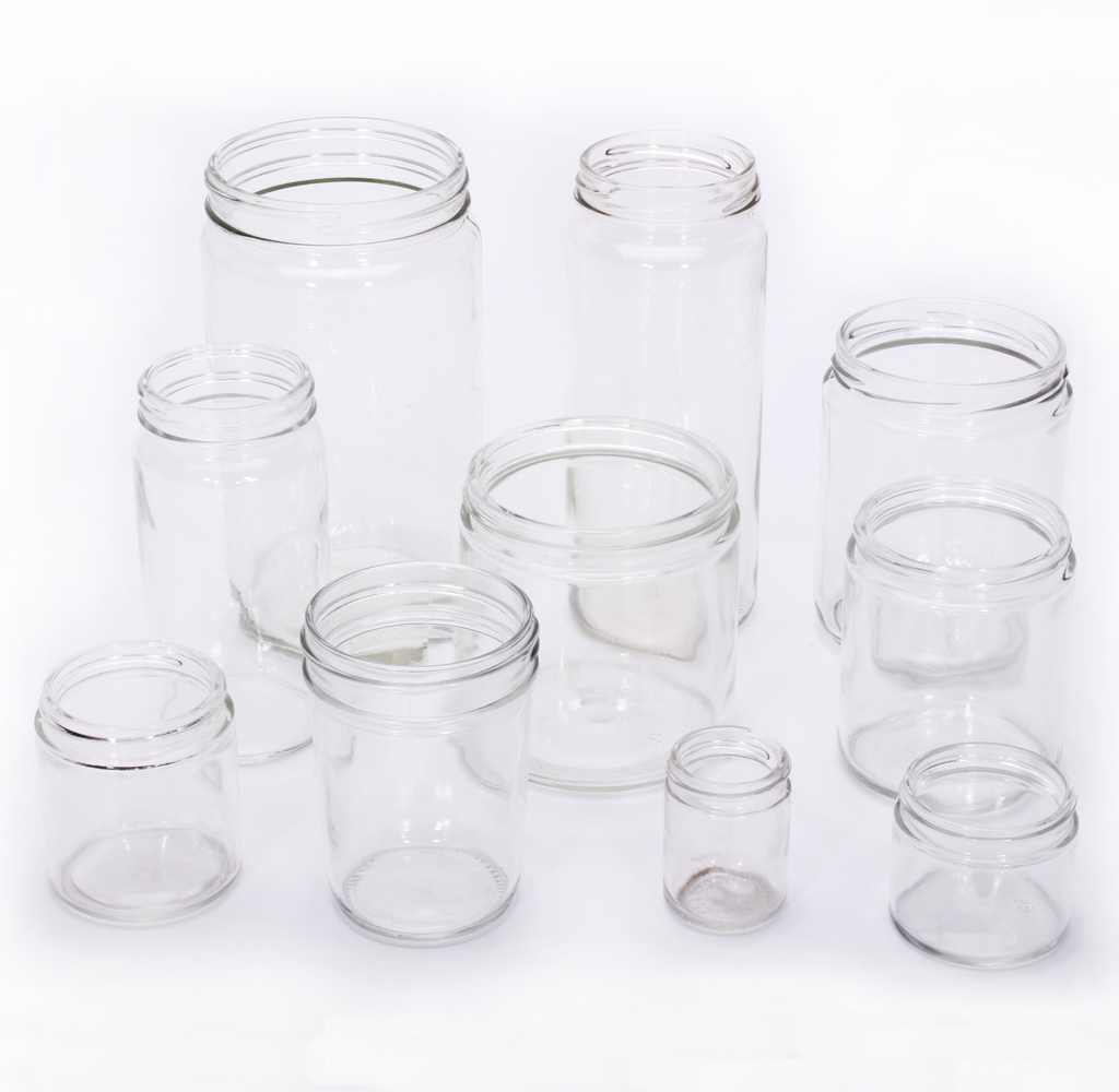 12 Straight Sided Jars