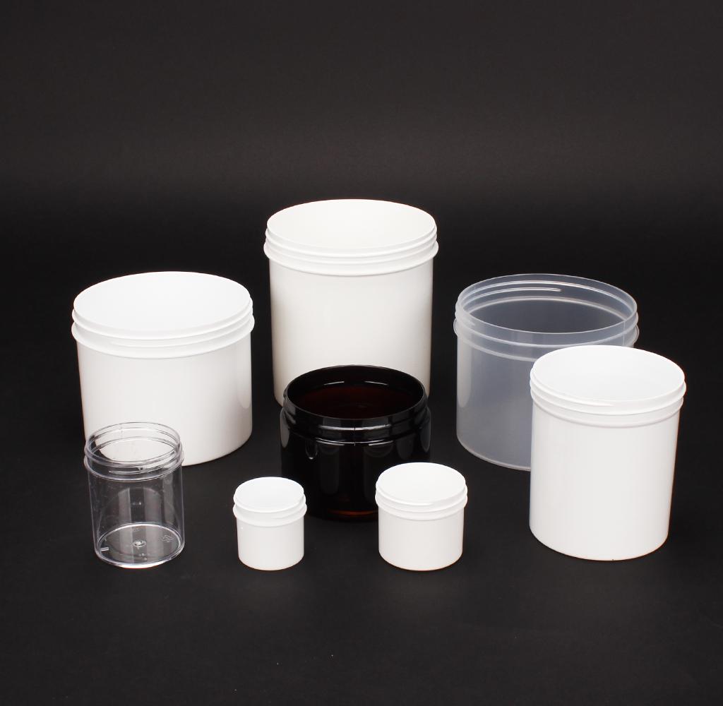 13 Plastic Jars #204